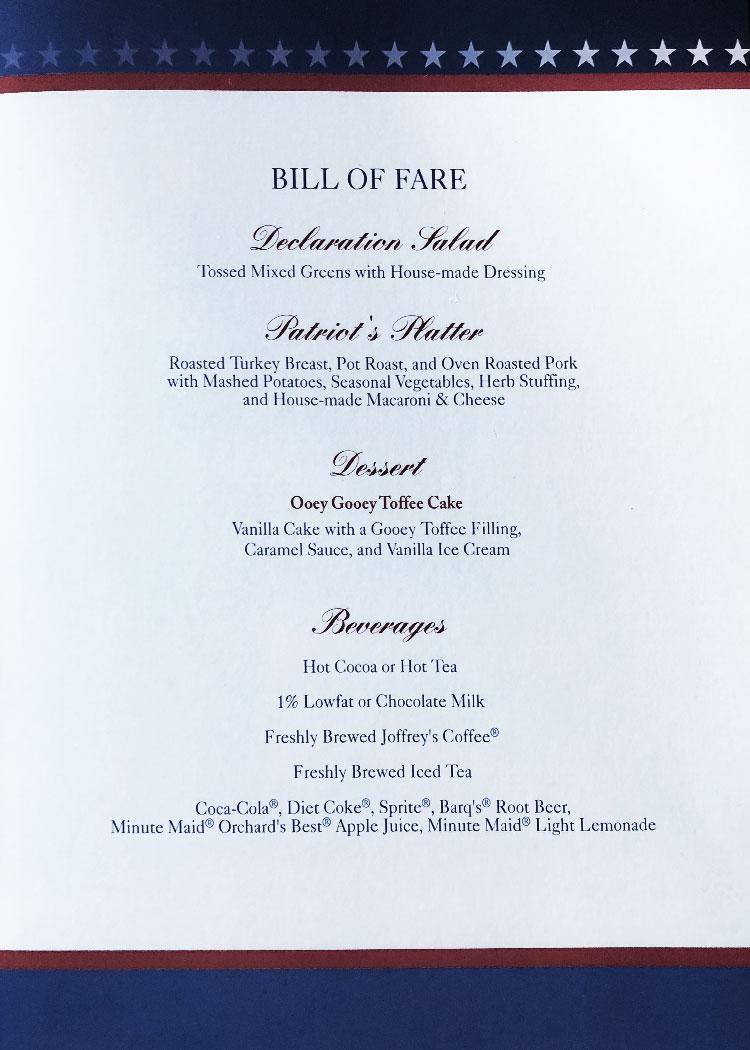 Liberty Tree Tavern Gluten-Free Dinner - Paleo Disney